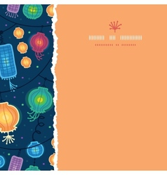 Glowing lanterns square torn seamless pattern vector image vector image