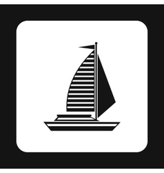 Sailing boat icon simple style vector image vector image