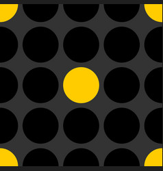 tile patern with black and yellow polka dot vector image vector image