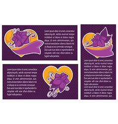 Violet vanolla banners collection vector