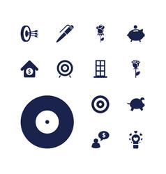 13 conceptual icons vector