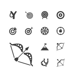 13 target icons vector