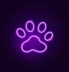 Animal trail neon sign vector