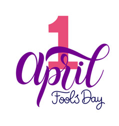 April fools day text vector