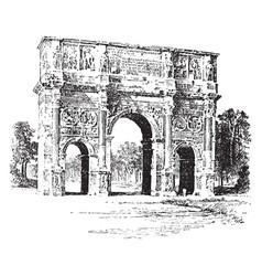 Arch of constantine a triumphal arch vintage vector