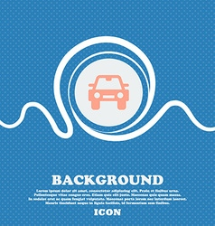 Auto sign icon Blue and white abstract background vector