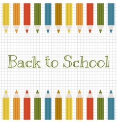 Back to school background with color pencils vector