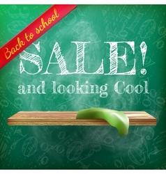 Back to school sale plus EPS10 vector