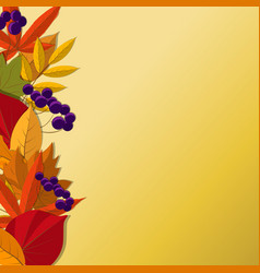 background with red orange brown and yellow vector image