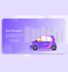 banner urban eco transport vector image