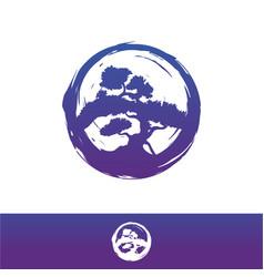 bonsai logo design vector image