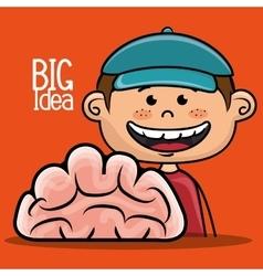 Boy idea intelligent vector
