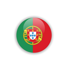 Button portugal flag template design vector