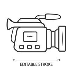Camera linear icon camcorder videotaping video vector