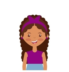 Cartoon young girl icon vector