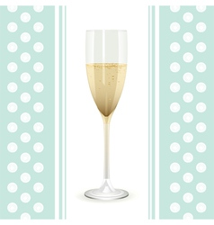 Champagne flute vector