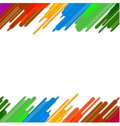 Colorful splash paint art background education vector