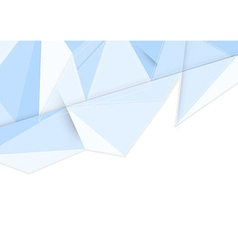 Crystal clean background in blue vector image