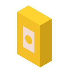 Detergent box icon isometric style vector