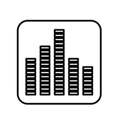 Equalizer sound isolated icon vector