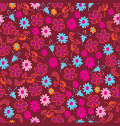 flowers collection-flowers in bloom vector image