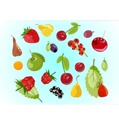 Fruits mix vector image