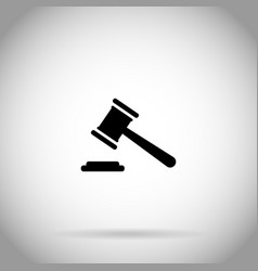 gavel icon judge hammer symbol auction icon vector image