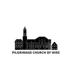 Germany steingaden pilgrimage church of wies vector