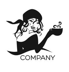 gypsy woman logo vector image
