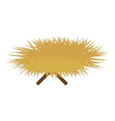 Haystack and sticks icon image vector