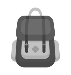 Hipster backpack icon in monochrome style isolated vector image