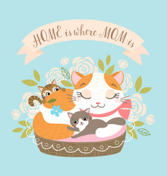 home is there mom vector image