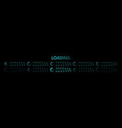 icon progress load on computer futuristic vector image