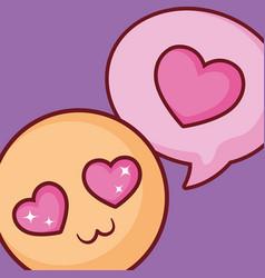 In love emoji design vector