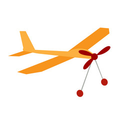 Isolated airplane toy vector