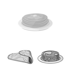 Isolated object of pancake and stack logo vector