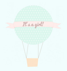 it s a girl vector image