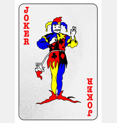Joker card playing card vector