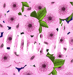 march ink lettering vector image