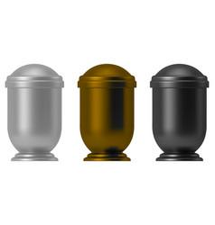 Metal ash urn vector