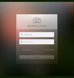 Modern login template form ui design vector