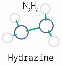 N2H4 Hydrazine molecule vector image