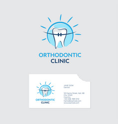 orthodontist clinic logo vector image