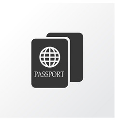 passport icon symbol premium quality isolated vector image