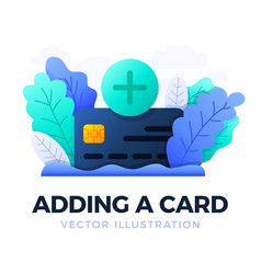 plus button and credit card stock isolated vector image