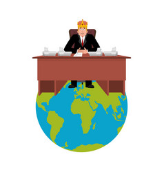 president of world in crown modern king is a vector image