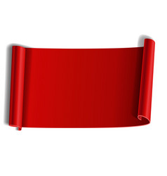 red scroll isolated on white background paper vector image