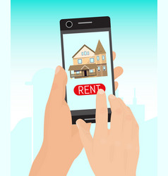 rent home concept banner real vector image