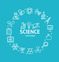science research thin line icon concept vector image