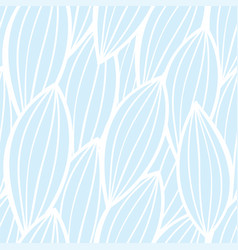seamless floral background pattern in white and vector image
